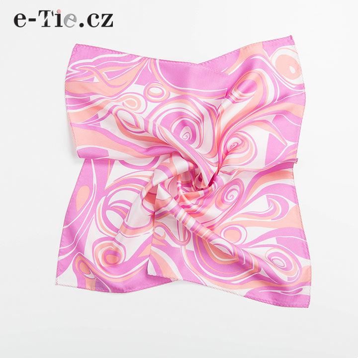 Šátek Spirals Pink Orange