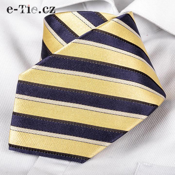 Kravata Mose Yellow-Blue