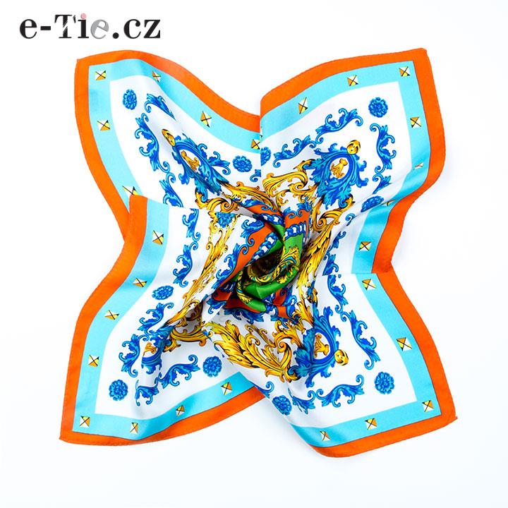 Šátek Baroque Ornaments in Orange