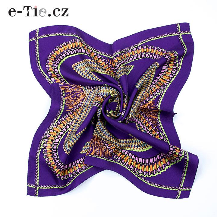 Šátek Mirrored G in Violet